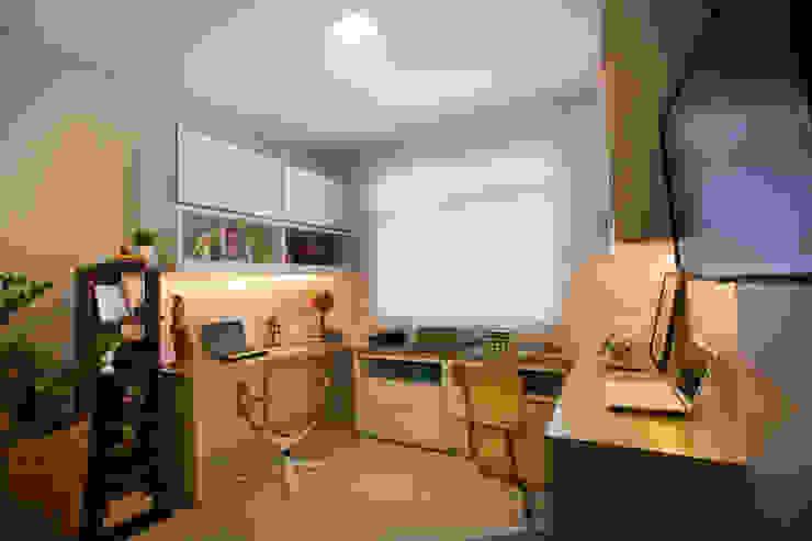 Apartamento AF Escritórios ecléticos por Passo3 Arquitetura Eclético