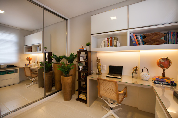 Eclectic style study/office by Passo3 Arquitetura Eclectic