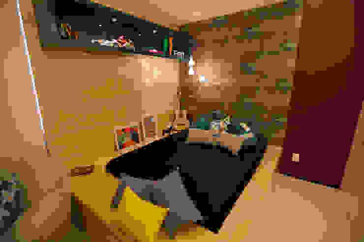 Apartamento AF Quartos ecléticos por Passo3 Arquitetura Eclético