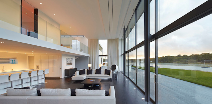 Yachtsman's House Modern living room by The Manser Practice Architects + Designers Modern