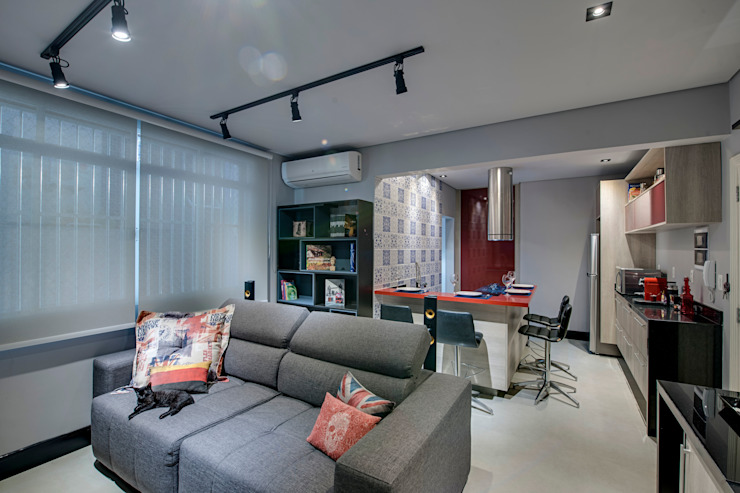 Living Salas de estar modernas por Guido Iluminação e Design Moderno