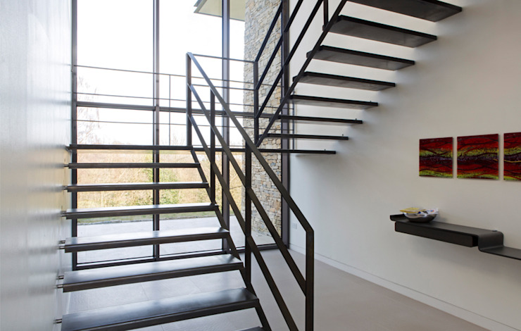 Stone House Modern corridor, hallway & stairs by The Manser Practice Architects + Designers Modern