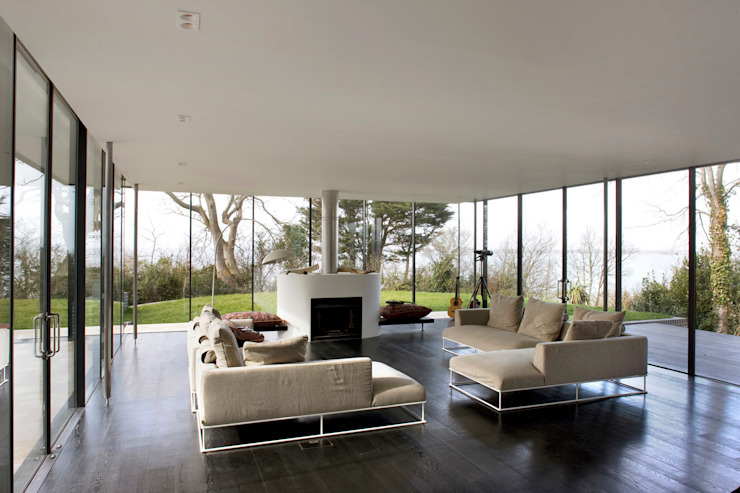 Seaglass House Modern living room by The Manser Practice Architects + Designers Modern