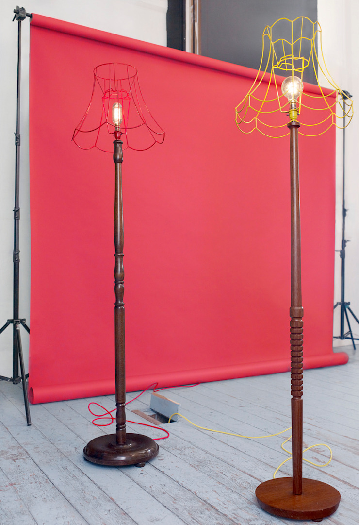 Skeleton Floor Lamps Donna Walker Design Living roomLighting