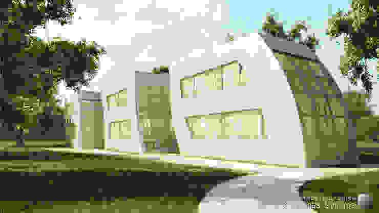 Modular Houses Maisons industrielles par Lights & Shades Studios Industriel