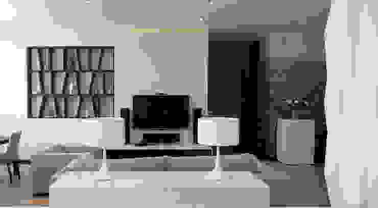 Квартира 130 кв.м. в ЖК <q>Дипломат</q> Гостиная в стиле минимализм от Студия Максима Рубцова. Минимализм