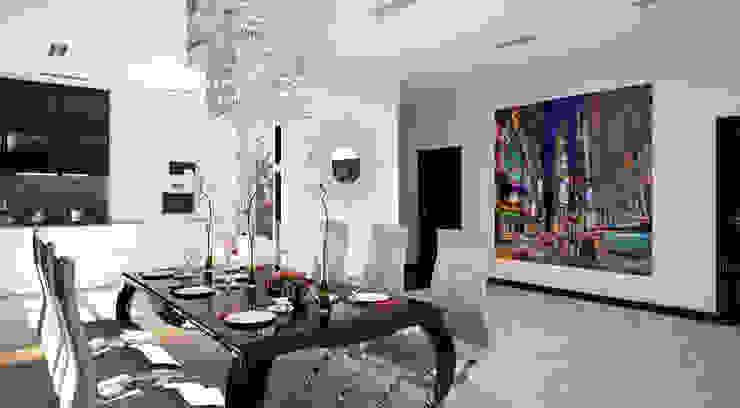 Квартира 140 кв.м. в ЖК <q>Премьер</q>. Гостиные в эклектичном стиле от Студия Максима Рубцова. Эклектичный