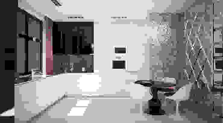 Квартира 140 кв.м. в ЖК <q>Премьер</q>. Кухни в эклектичном стиле от Студия Максима Рубцова. Эклектичный