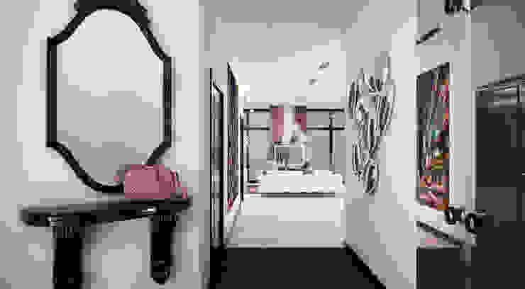 Квартира 140 кв.м. в ЖК <q>Премьер</q>. Коридор, прихожая и лестница в эклектичном стиле от Студия Максима Рубцова. Эклектичный