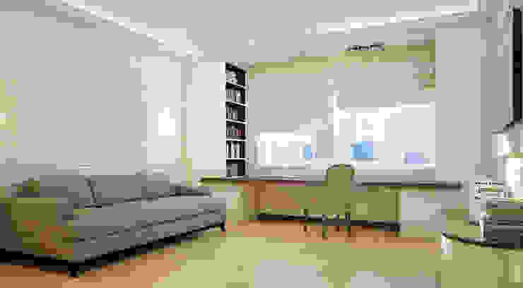 Квартира 140 кв.м. в ЖК <q>Премьер</q>. Рабочий кабинет в эклектичном стиле от Студия Максима Рубцова. Эклектичный