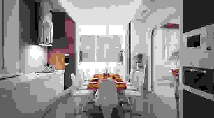Minimalist kitchen by Студия Максима Рубцова. Minimalist