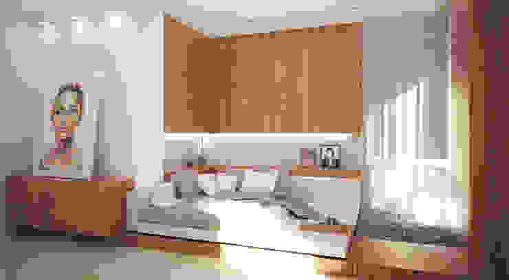 """Квартира 420 кв.м. в ЖК """"Остоженка Парк Палас"""" Спальня в стиле минимализм от Студия Максима Рубцова. Минимализм"""