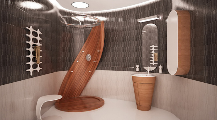 Minimalist style bathroom by Студия Максима Рубцова. Minimalist