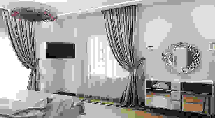 Квартира 140 кв.м. в ЖК <q>Премьер</q>. Спальня в эклектичном стиле от Студия Максима Рубцова. Эклектичный