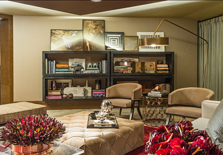 Salones de estilo moderno de Denise Barretto Arquitetura Moderno