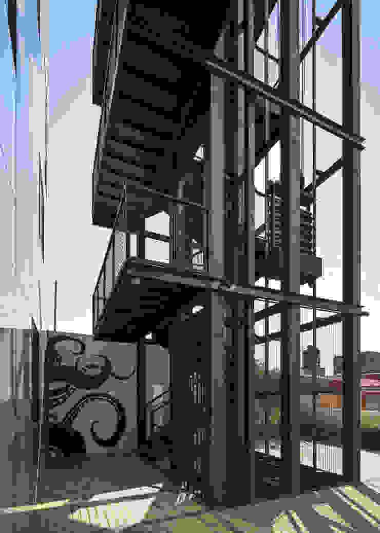 Tadeo 4909_12 Pasillos, vestíbulos y escaleras industriales de Proyecto Cafeina Industrial