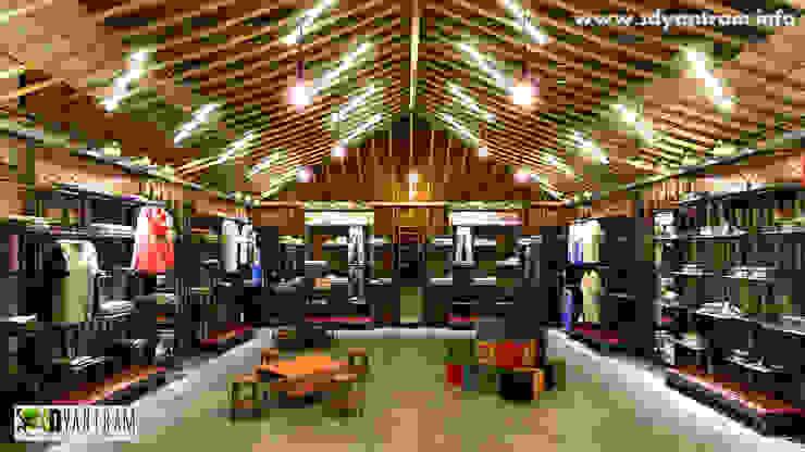 Commercial 3d Interior Design Store: modern  by Yantram Architectural Design Studio, Modern