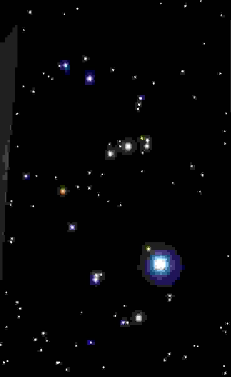 Dakterras sterrenhemel plafond verlichting met glasvezel LED met Vallende Sterren van MyCosmos Landelijk