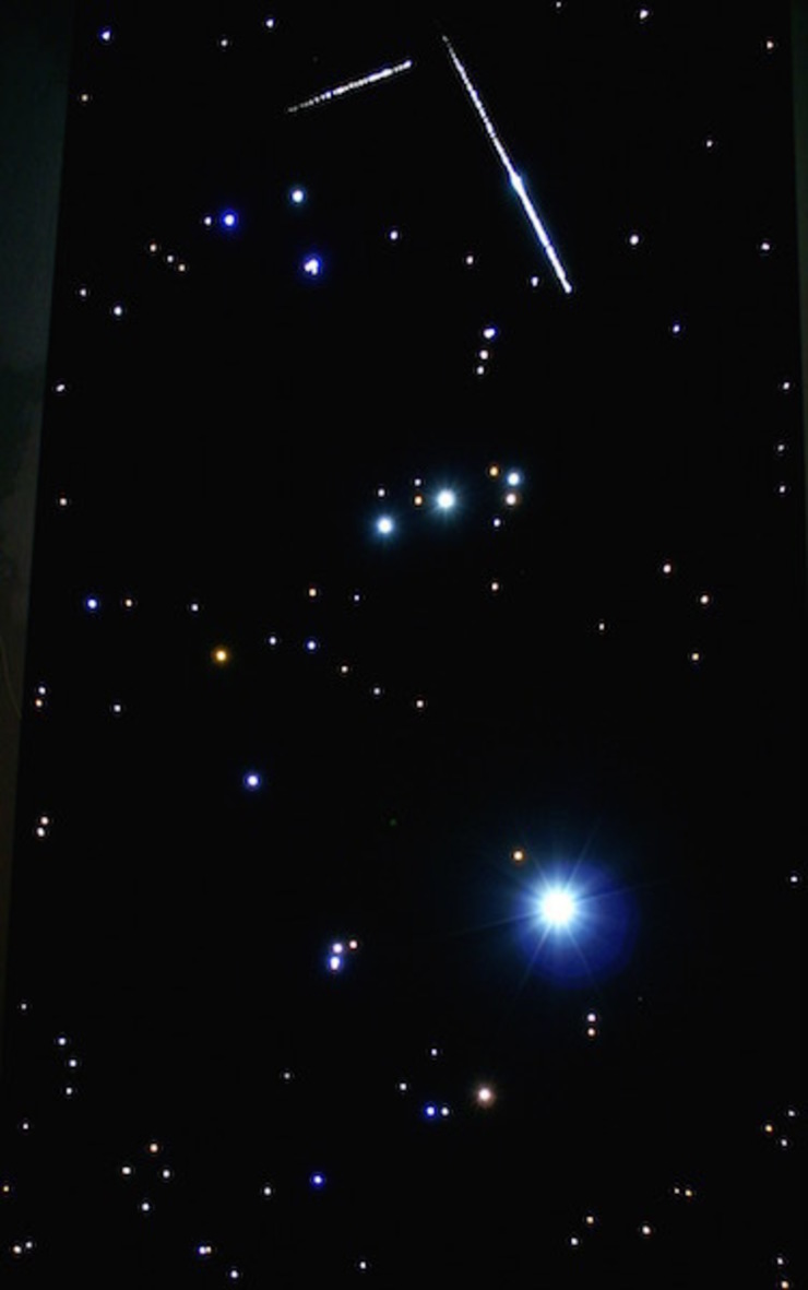 Dakterras sterrenhemel plafond verlichting met glasvezel LED met Vallende Sterren van MyCosmos Scandinavisch