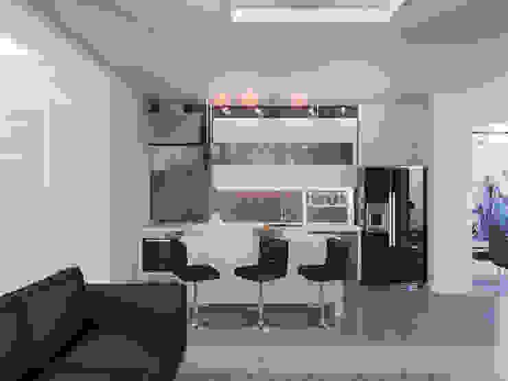 Студия-лофт в Тюмени: визуализация и дизайн Кухня в стиле модерн от OK Interior Design Модерн