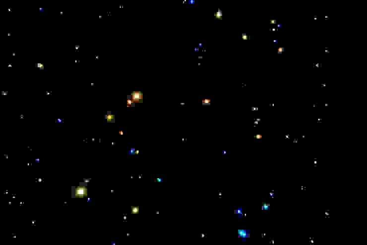 Wc Toiletten sterrenhemel plafond verlichting met glasvezel LED van MyCosmos Landelijk