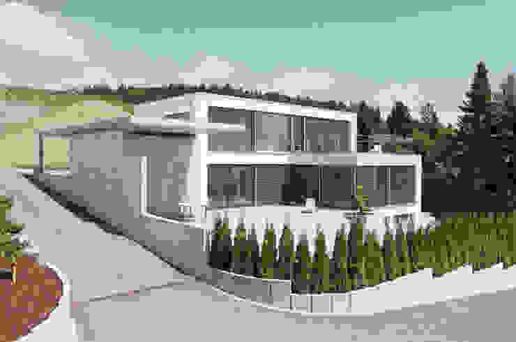 Maisons minimalistes par Unica Architektur AG Minimaliste