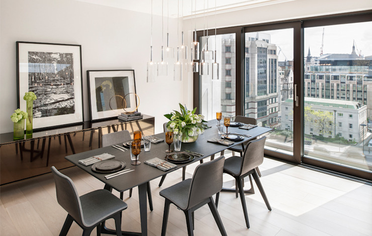 Roman House Penthouse Modern dining room by The Manser Practice Architects + Designers Modern