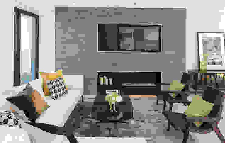 غرفة المعيشة تنفيذ The Manser Practice Architects + Designers,