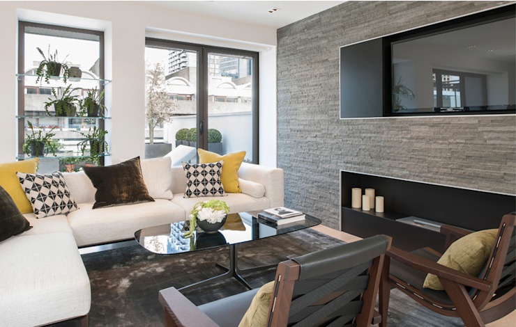 Roman House Penthouse Modern Living Room by The Manser Practice Architects + Designers Modern