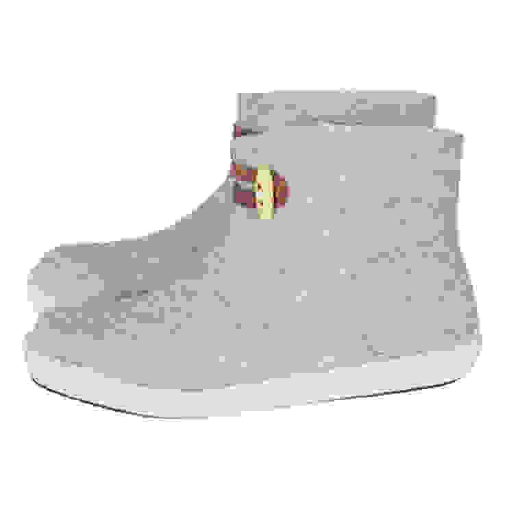 Vilten dames en herenslof High Boots Light grey van esgii Landelijk