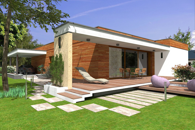 Domy pasywne Nowoczesne domy od ABC Pracownia Projektowa Bożena Nosiła - 1 Nowoczesny