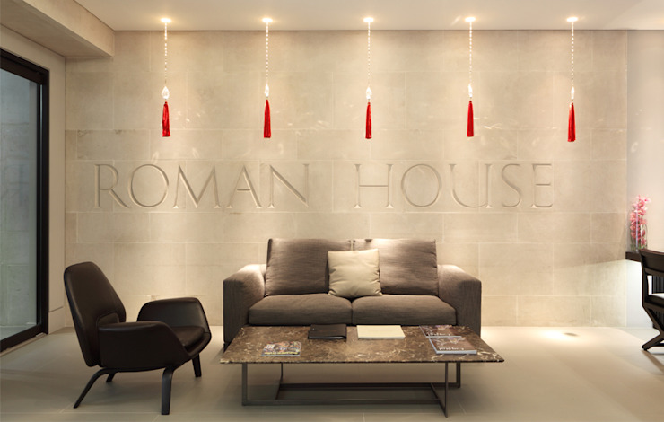Roman House The Manser Practice Architects + Designers Modern Corridor, Hallway and Staircase