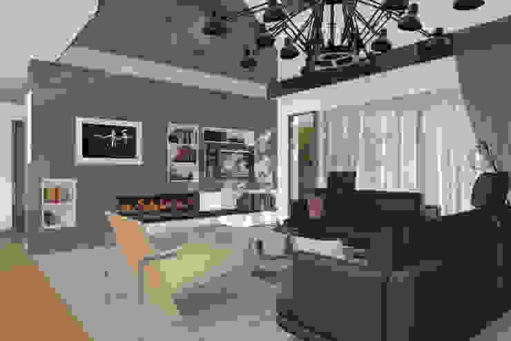 Dom Passive_Nord Nowoczesny salon od ABC Pracownia Projektowa Bożena Nosiła Nowoczesny