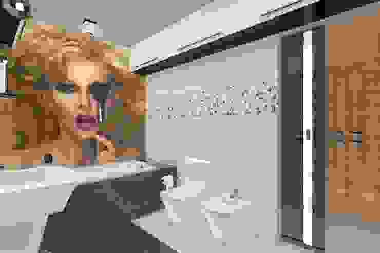 Duża łazienka rodziców z własną garderobą. Nowoczesna łazienka od ABC Pracownia Projektowa Bożena Nosiła Nowoczesny