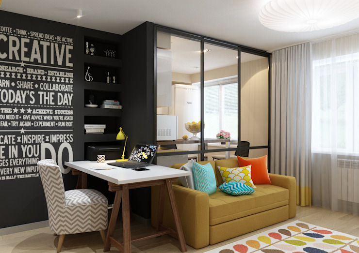 Eclectic style living room by MIODESIGN Eclectic