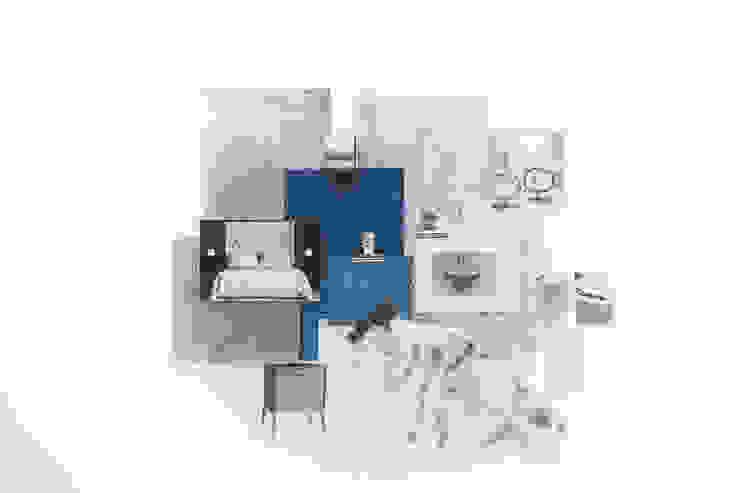 Sample Board - Luxurious Blue Bedroom Lauren Gilberthorpe Interiors