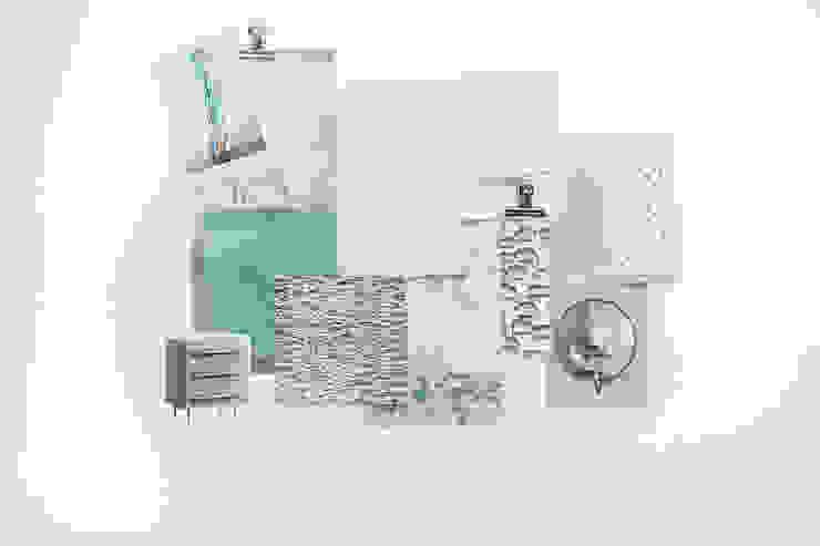 Sample Board - Restful Aqua Bedroom od Lauren Gilberthorpe Interiors