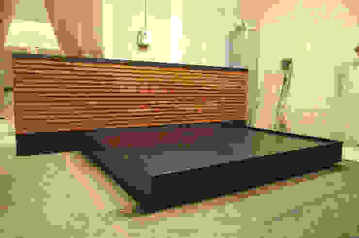 Cama de Mediamadera Rústico Madera Acabado en madera