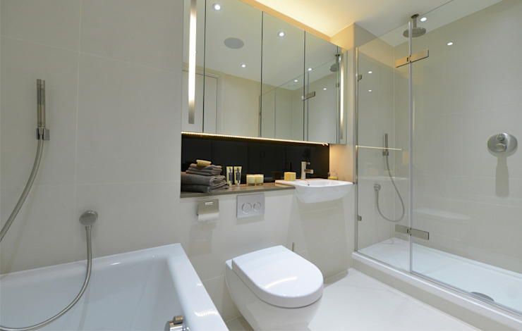Leman Street Modern bathroom by The Manser Practice Architects + Designers Modern