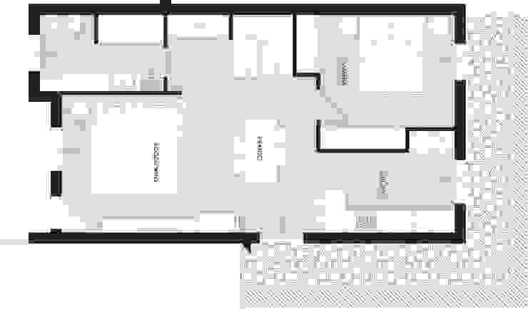 planimetria del piano terra (progetto) di Laura Canonico Architetto Minimalista