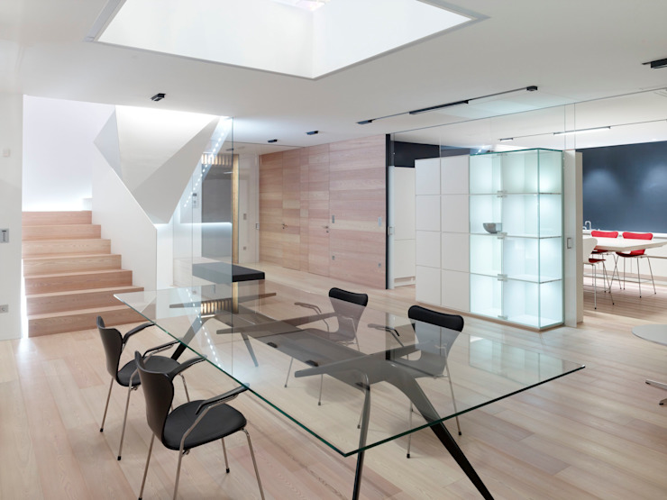 Projekty,  Jadalnia zaprojektowane przez Burnazzi  Feltrin  Architects, Minimalistyczny