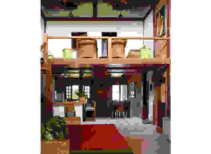 Residência Outeiro Salas de estar tropicais por Cria Arquitetura Tropical