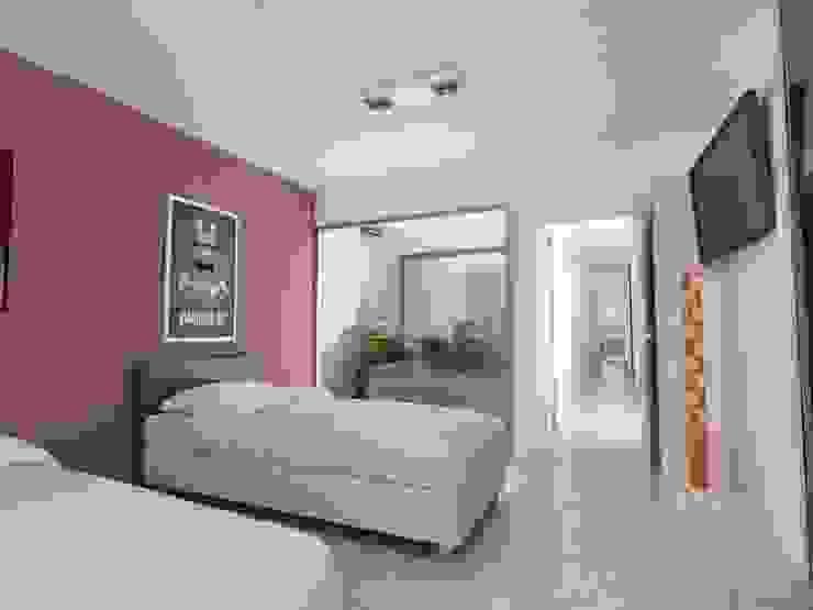 Chambre moderne par Chazarreta-Tohus-Almendra Moderne