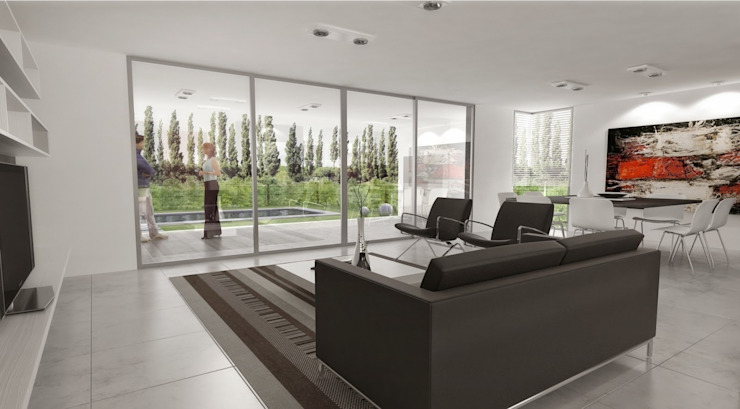 Salon moderne par Chazarreta-Tohus-Almendra Moderne