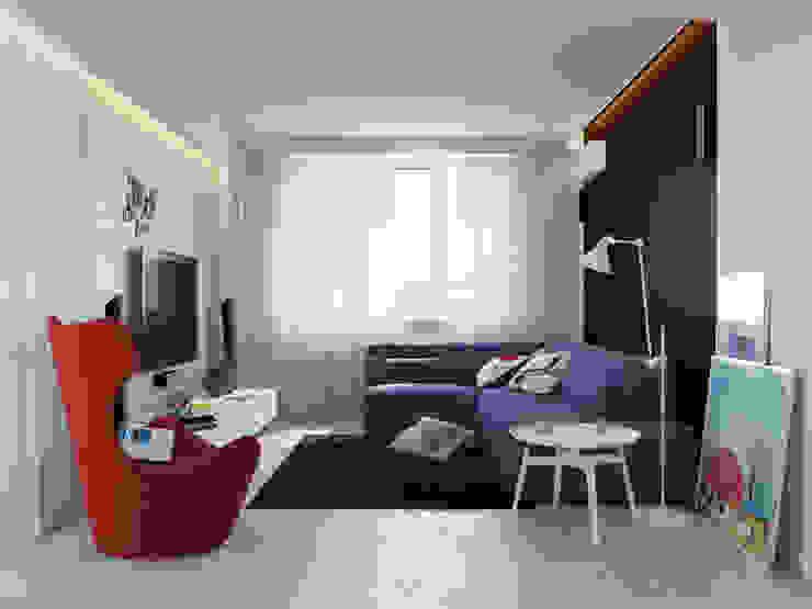 Ruang Keluarga Minimalis Oleh Оксана Мухина Minimalis
