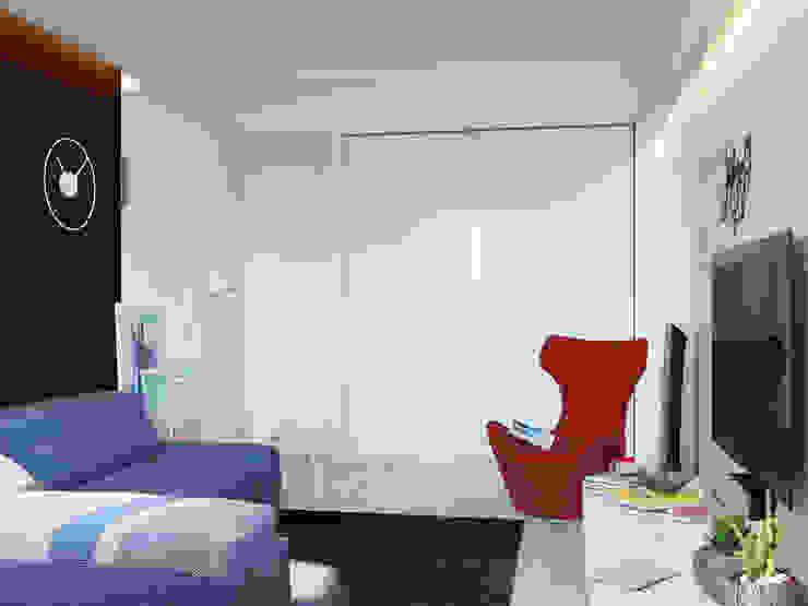 Интерьер квартиры для молодого человека Гостиная в стиле минимализм от Оксана Мухина Минимализм