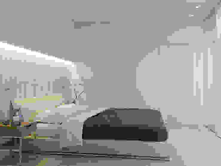 Интерьер квартиры для молодого человека Спальня в стиле минимализм от Оксана Мухина Минимализм