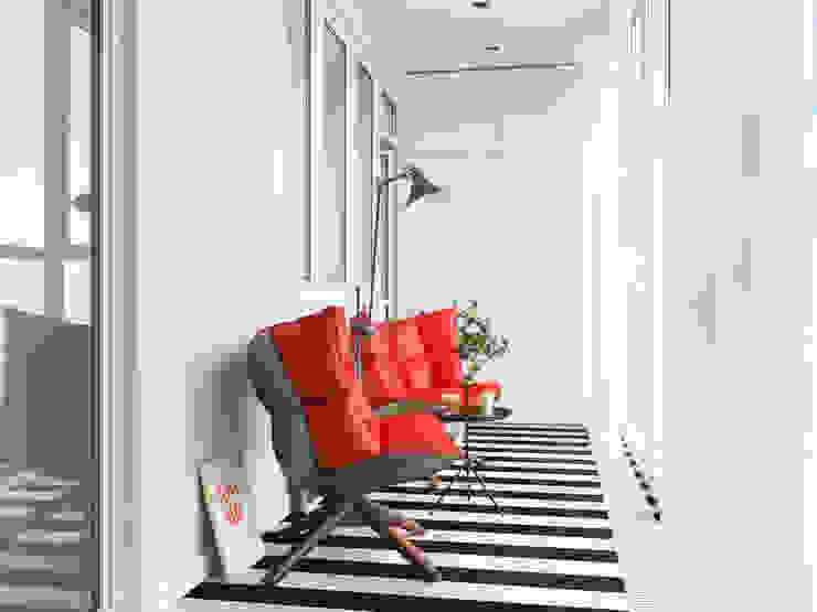 Интерьер квартиры для молодого человека Балкон и терраса в стиле минимализм от Оксана Мухина Минимализм