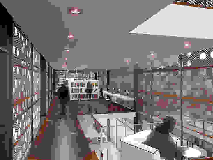 Renders interiores Salas multimedia modernas de Entretrazos Moderno
