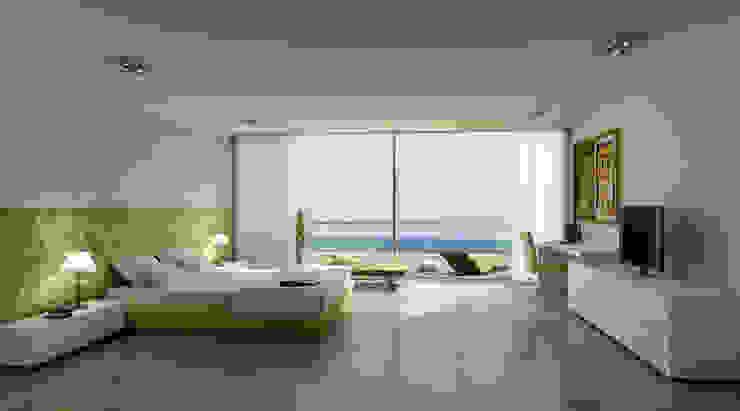 Renders interiores Dormitorios modernos: Ideas, imágenes y decoración de Entretrazos Moderno